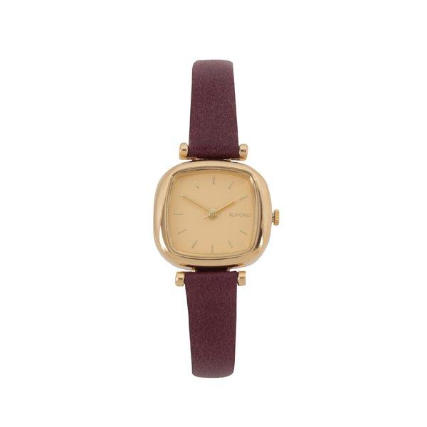 Ceas de damă vișiniu&auriu Komono Moneypenny