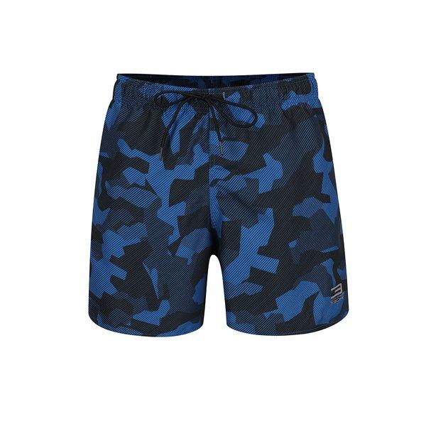 Bermude de baie negru & albastru Jack & Jones Camo cu model camuflaj