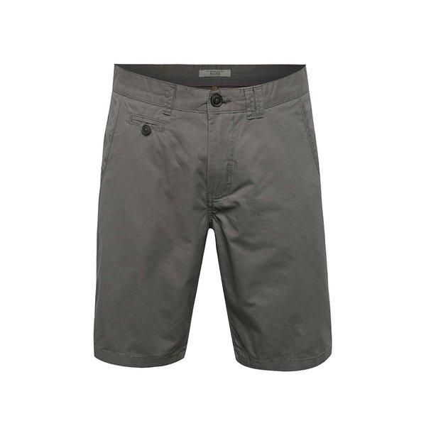 Pantaloni scurți chino gri închis Blend din bumbac