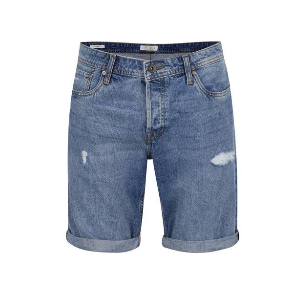 Blugi scurți albaștri Jack & Jones Otto cu aspect deteriorat de la Jack & Jones in categoria Blugi, pantaloni, pantaloni scurți