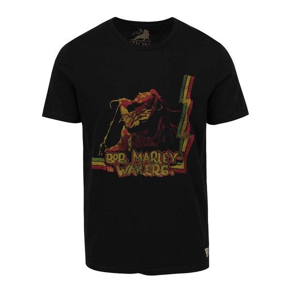 Tricou negru Jack & Jones Bob Marley cu print de la Jack & Jones in categoria Tricouri și bluze