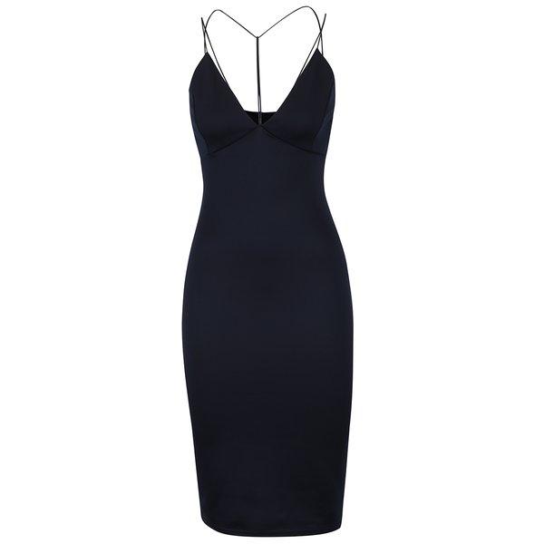 Rochie albastru închis AX Paris cu decolteu în V de la AX Paris in categoria rochii de seară