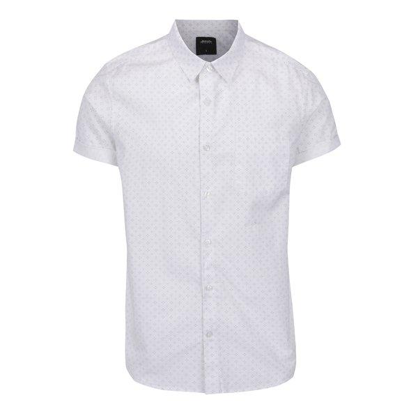 Cămașă crem Burton Menswear London cu mâneci scurte și buzunar de la Burton Menswear London in categoria Cămăși