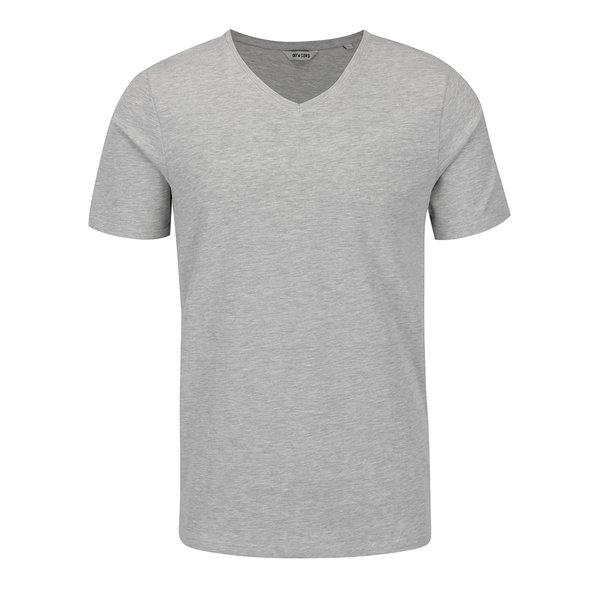 Tricou gri melanj ONLY & SONS Basic de la ONLY & SONS in categoria tricouri