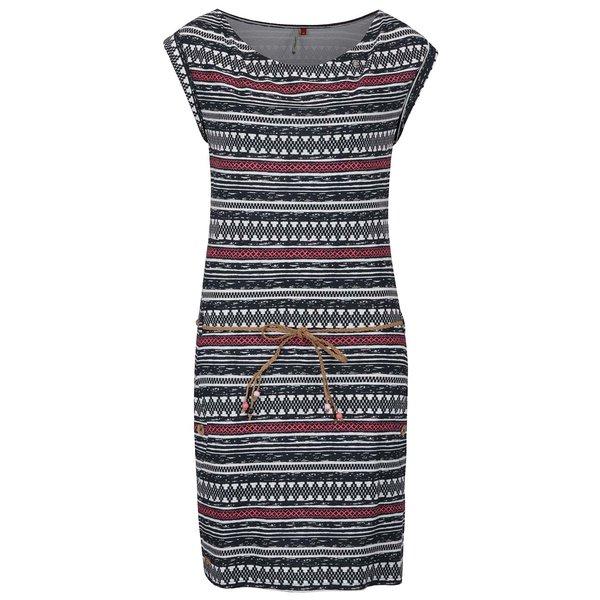 Rochie negru & crem Ragwear Tag Embro cu model aztec de la Ragwear in categoria rochii de vară și de plajă