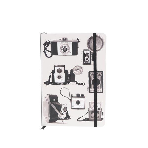 Caiet negru&gri Galison cu imprimeu