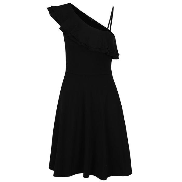 Rochie neagră Dorothy Perkins cu volan amplu de la Dorothy Perkins in categoria rochii casual