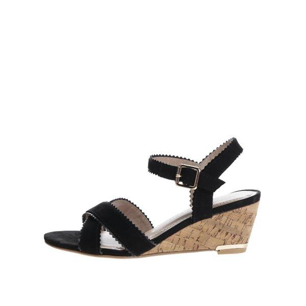 Sandale negre Dorothy Perkins cu bareta pe glezna