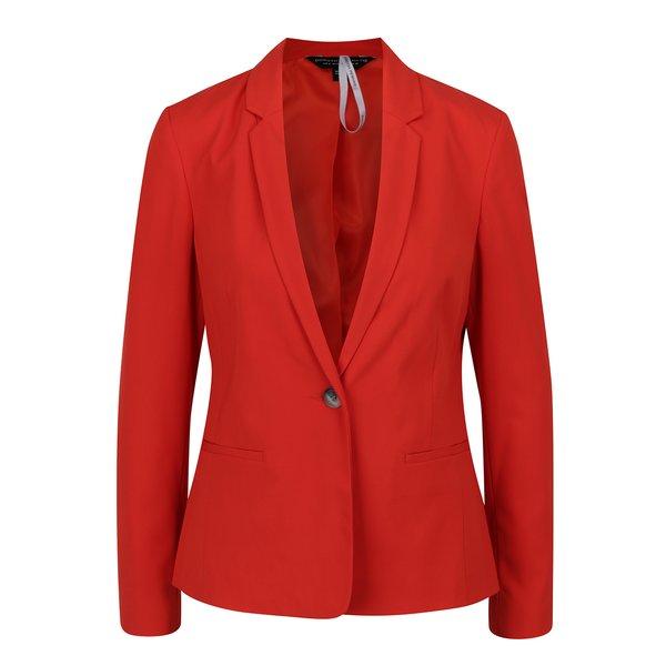 Sacou roșu Dorothy Perkins cu revere ample de la Dorothy Perkins in categoria Geci, jachete și sacouri