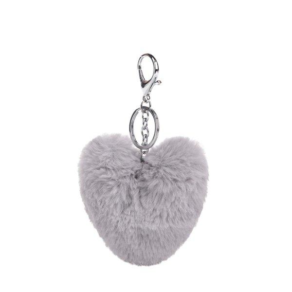 Breloc gri Haily´s Pompom în formă de inimă de la Haily´s in categoria Accesorii