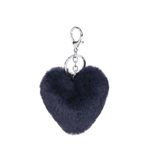 Breloc albastru închis Haily´s Pompom în formă de inimă de la Haily´s in categoria Accesorii