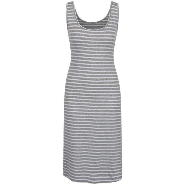 Rochie alb & gri Haily´s Chinaly cu model în dungi de la Haily´s in categoria rochii de vară și de plajă