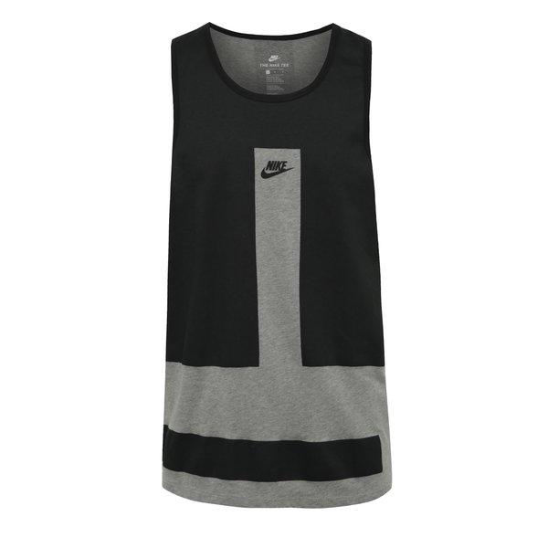 Maiou negru & gri Nike Modern din bumbac de la Nike in categoria Tricouri și bluze