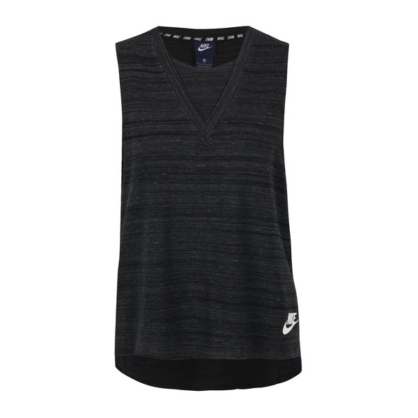 Top negru melanj Nike cu print de la Nike in categoria Topuri, tricouri, body-uri