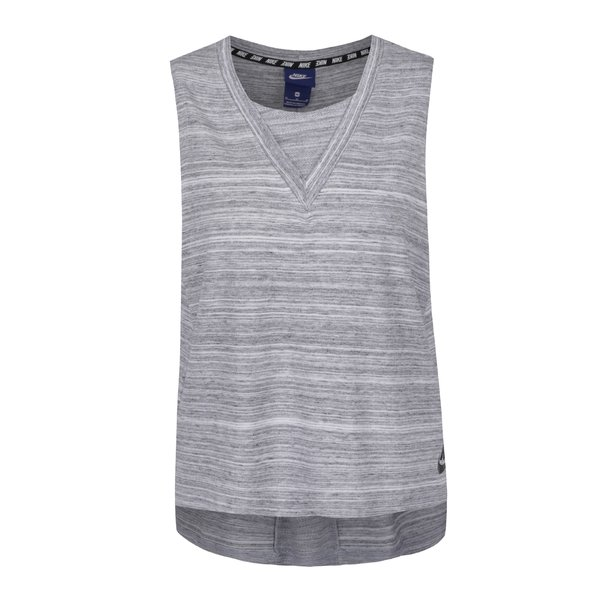 Top gri deschis melanj Nike cu print de la Nike in categoria Topuri, tricouri, body-uri