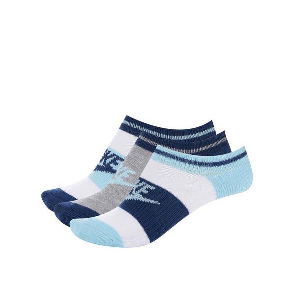 Set 3 perechi sosete alb/albastru Nike No Show de la Nike in categoria Dresuri si șosete