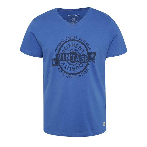 Tricou albastru Blend cu print