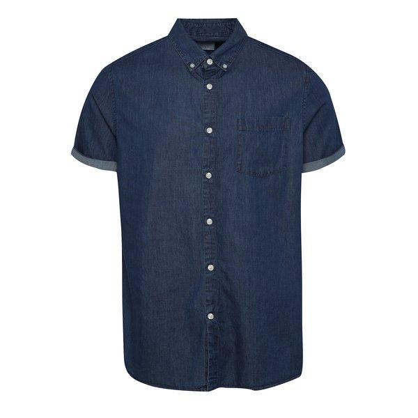 Cămașă albastră cu mâneci scurte Burton Menswear London din denim de la Burton Menswear London in categoria Cămăși