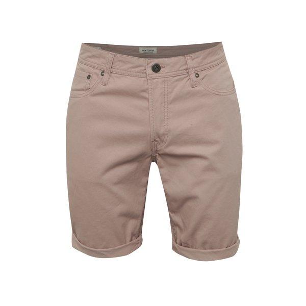 Pantaloni scurți roz Jack & Jones Rick din bumbac de la Jack & Jones in categoria Blugi, pantaloni, pantaloni scurți
