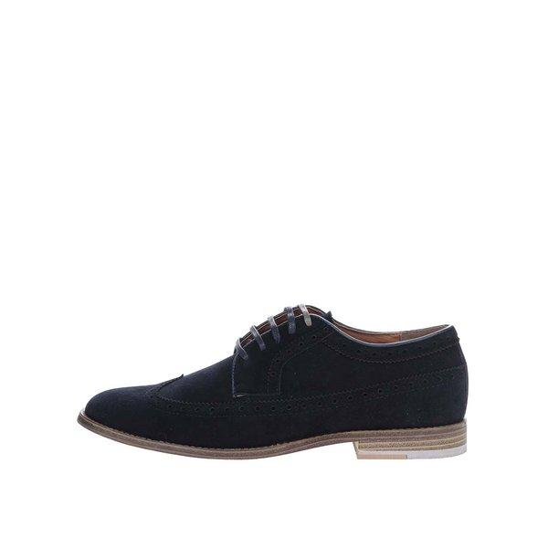 Pantofi brogue bluemarin Burton Menswear London cu aspect de piele întoarsă