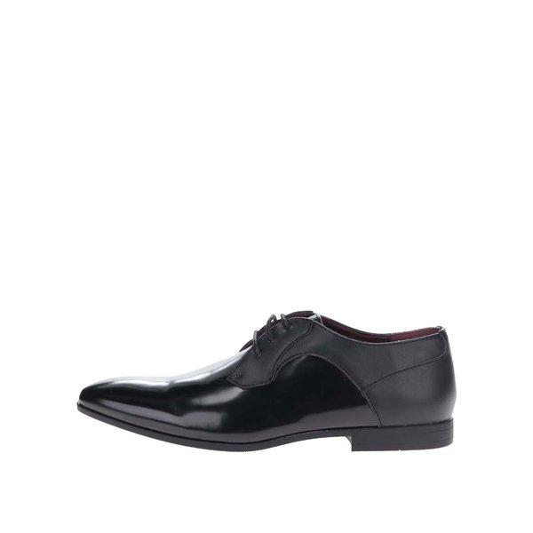 Pantofi negri Burton Menswear London cu aspect lăcuit în partea din față de la Burton Menswear London in categoria pantofi și mocasini