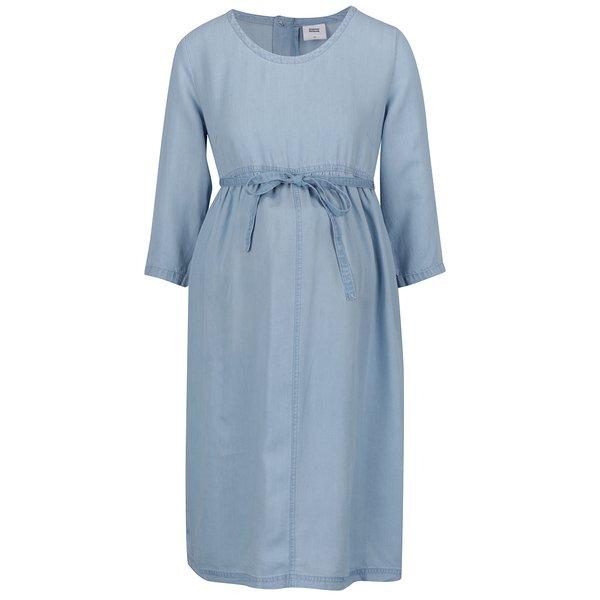 Rochie albastră pentru gravide Mama.licious cu cordon în talie de la Mama.licious in categoria FEMEI