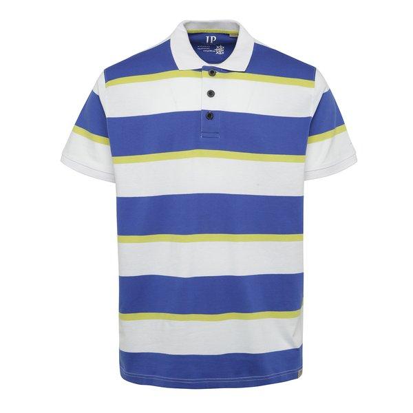 Tricou alb & albastru & galben JP 1880 cu model în dungi de la JP 1880 in categoria tricouri polo