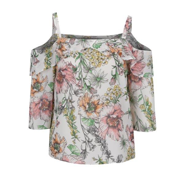 Bluză albă Dorothy Perkins Petite cu imprimeu floral