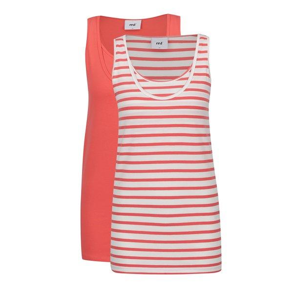 Set alb&roșu cu 2 maiouri pentru gravide Mama.licious Lea de la Mama.licious in categoria FEMEI