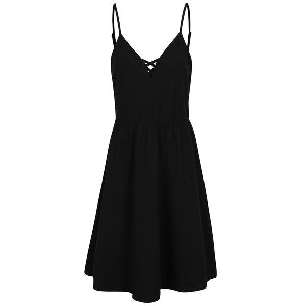Rochie neagră Noisy May Nayeem cu bretele subțiri de la Noisy May in categoria rochii de vară și de plajă