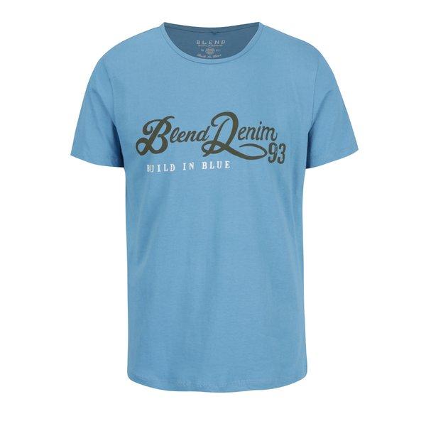 Tricou albastru deschis Blend cu mesaj de la Blend in categoria Tricouri și bluze