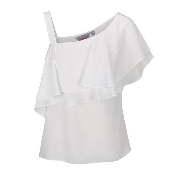 Top alb Dorothy Perkins Petite cu volan amplu de la Dorothy Perkins Petite in categoria Topuri, tricouri, body-uri