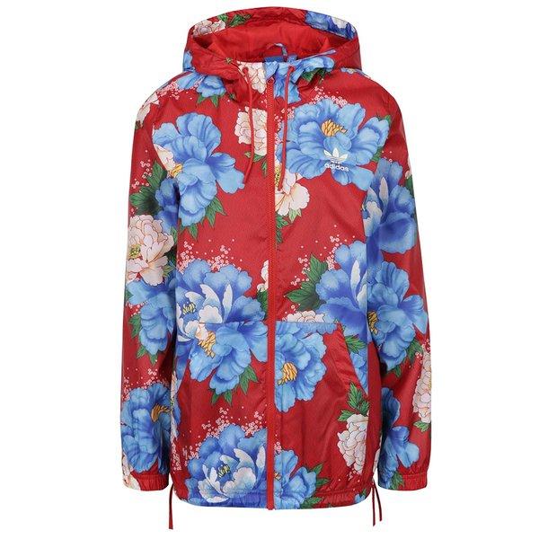Jachetă roșie adidas Originals cu model floral de la adidas Originals in categoria Geci, paltoane, jachete