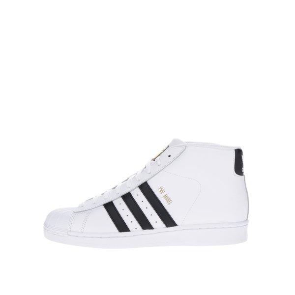 Pantofi sport înalți albi din piele pentru bărbați adidas Originals Pro Model Vintage de la adidas Originals in categoria pantofi sport și teniși