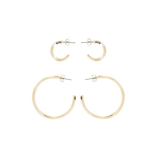Set 2 perechi de cercei aurii Pieces Eila de la Pieces in categoria Ceasuri și bijuterii