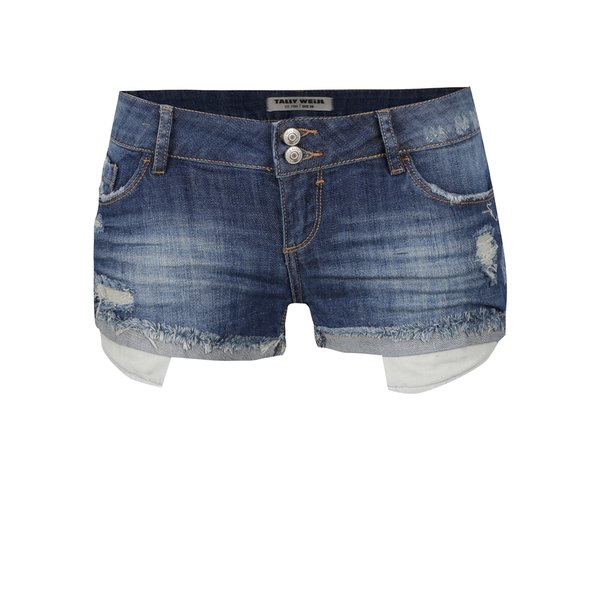 Blugi scurți albaștri TALLY WEiJL cu aspect deteriorat de la TALLY WEiJL in categoria Blugi, pantaloni, colanți