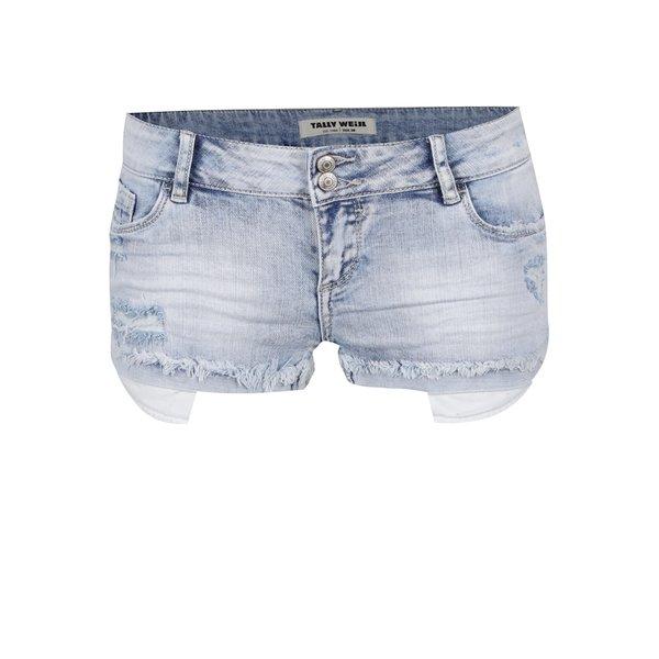 Blugi scurți albastru deschis TALLY WEiJL cu aspect deteriorat de la TALLY WEiJL in categoria Blugi, pantaloni, colanți