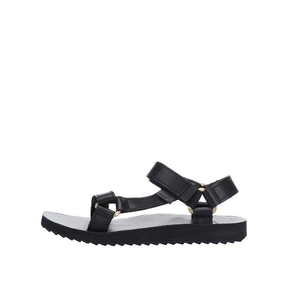 Sandale negre din piele Teva pentru femei de la Teva in categoria sandale