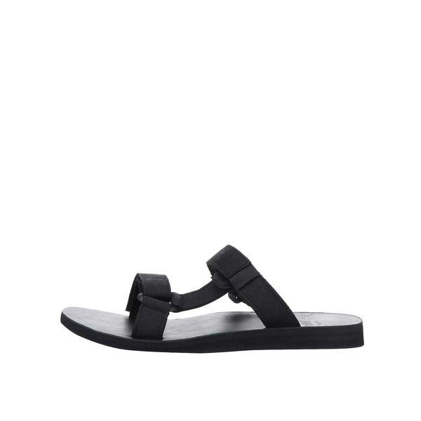 Papuci flip-flop negri Teva din piele de la Teva in categoria sandale și șlapi