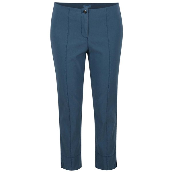 Pantaloni albastru petrol Gina Laura cu croi slim fit de la Gina Laura in categoria Mărimi curvy