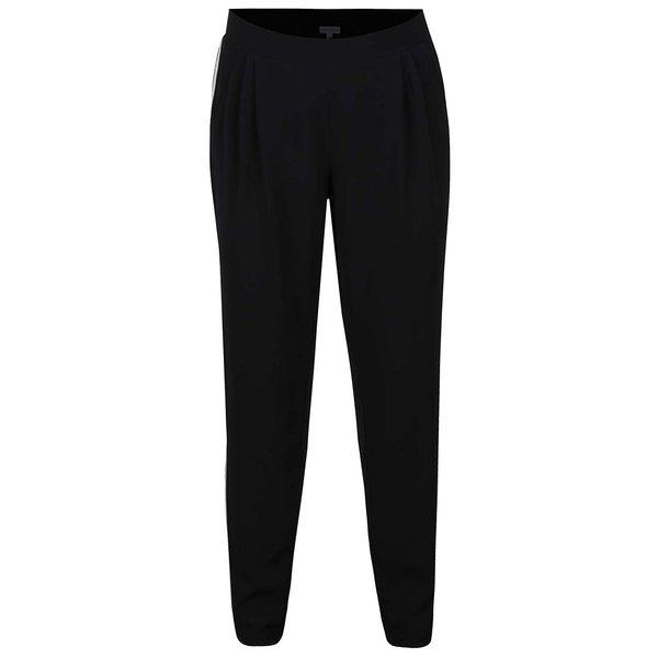 Pantaloni negri Gina Laura cu dungi albe pe laterale de la Gina Laura in categoria Mărimi curvy