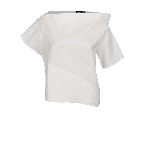 Bluza alb fildes Bianca Popp cu croi suprapus si asimetric