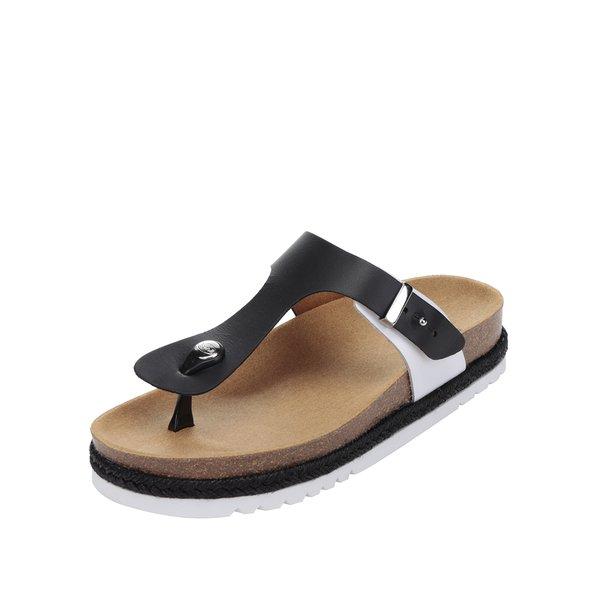 Papuci flip-flop negri Scholl Idylla din piele de la Scholl in categoria șlapin