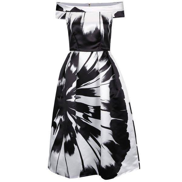 Rochie alb&negru Closet cu decolteu pe umeri de la Closet in categoria rochii de seară