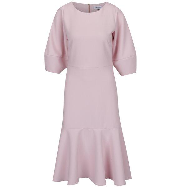 Rochie roz pal Closet cu decolteu rotund