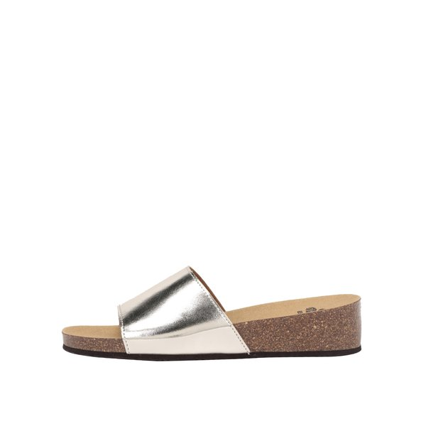 Papuci argintii Scholl Vinny cu reflexii de la Scholl in categoria șlapin