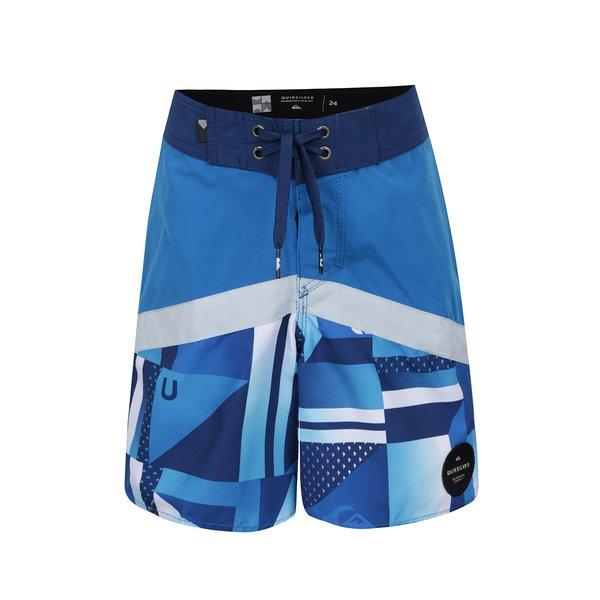 Bermude de baie albastre Quiksilver Check pentru baieti