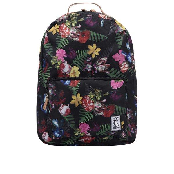 Rucsac negru The Pack Society 18 l cu imprimeu floral de la The Pack Society in categoria rucsacuri