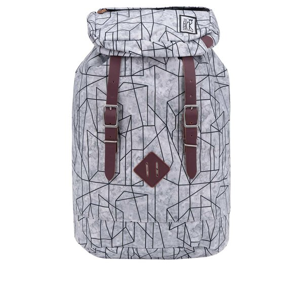 Rucsac gri unisex The Pack Society 23 l cu imprimeu geometric de la The Pack Society in categoria rucsacuri