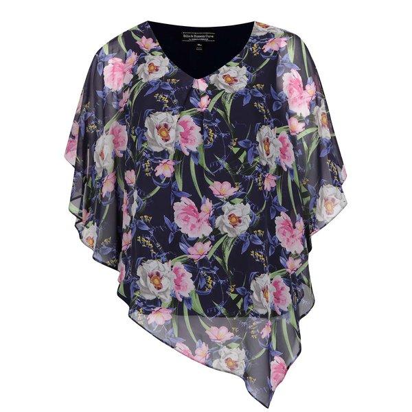 Top albastru Billie & Blossom Curve cu imprimeu floral de la Billie & Blossom in categoria Topuri, tricouri, body-uri